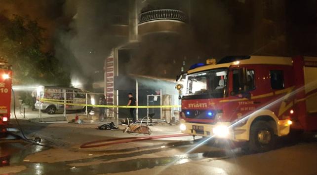 Başkentte tekstil mağazasında yangın