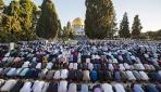 90 bin Filistinli bayram namazını Mescid-i Aksada kıldı