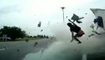 Emniyet kemeri takmayan tır sürücüsü camdan fırladı