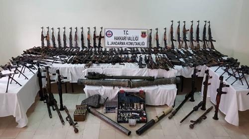 İkiyaka Dağlarında PKKnın lojistik desteğine darbe vuruldu