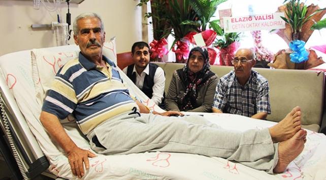 Şehit Fethi Sekinin babası Mehmet Zeki Sekin trafik kazası geçirdi