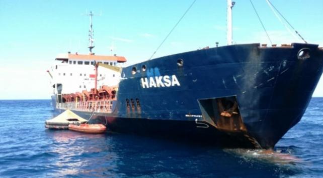Hırvatistanda su alan Türk gemisi kurtarıldı