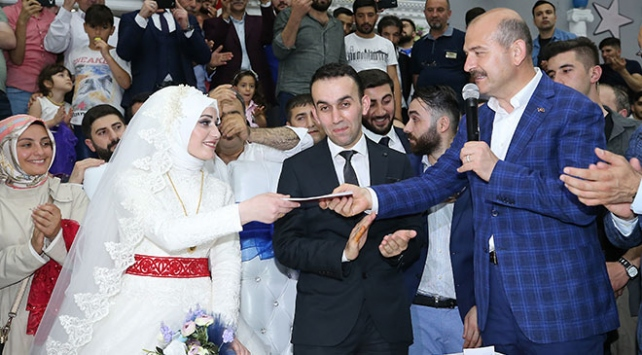 İçişleri Bakanı Süleyman Soylu, nikah şahidi oldu