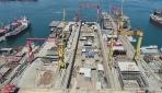 """Türkiyenin ilk uçak gemisi TCG Anadolu"""" havadan görüntülendi"""