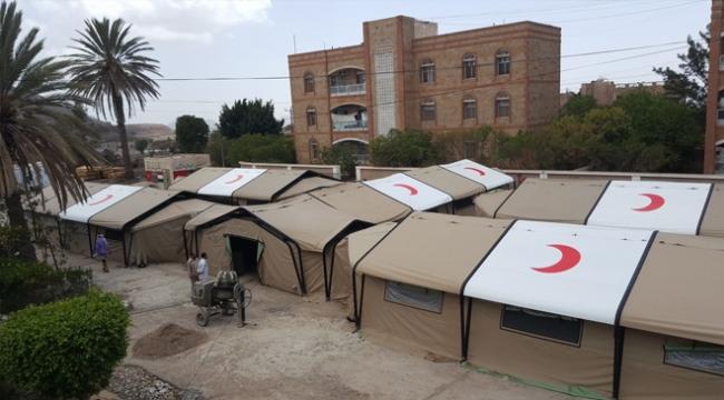 Türkiyeden Yemene sahra hastanesi