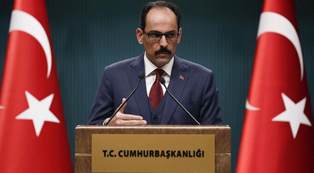 Cumhurbaşkanlığı Sözcüsü İbrahim Kalından Münbiç açıklaması