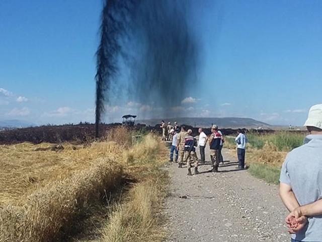 Kahramanmaraşta petrol boru hattında patlama