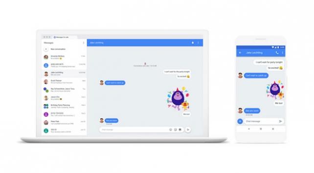 Google Android Mesajların Web sürümü yayınladı