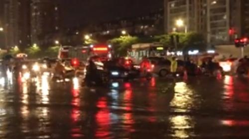 Çinde şiddetli yağış nedeniyle kırmızı alarm verildi