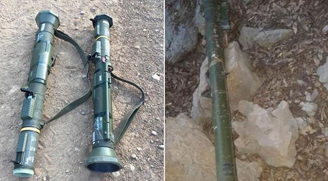 Hakkaride tanksavar silahı ve hava savunma füzesi ele geçirildi