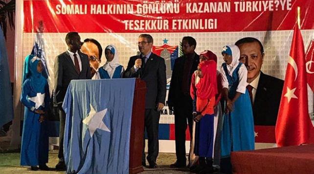 Somalide Halkının Gönlünü Kazanan Türkiyeye Teşekkür etkinliği