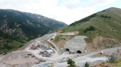 Giresun Eğribel Tünelinde çıkışa 140 metre kaldı