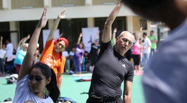 """Ankarada """"Uluslararası Yoga Günü"""" etkinliği düzenlendi"""
