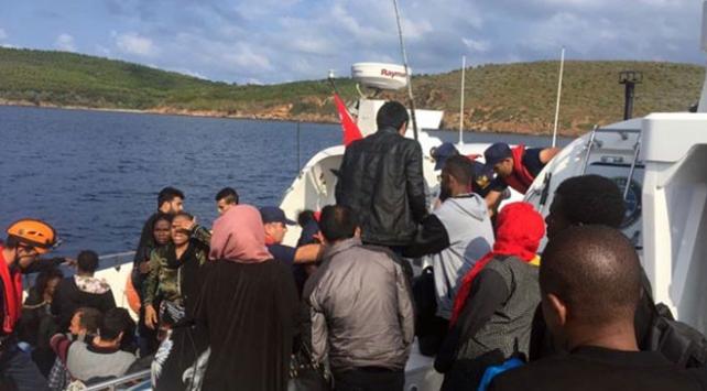 İzmirde 132 göçmen yakalandı