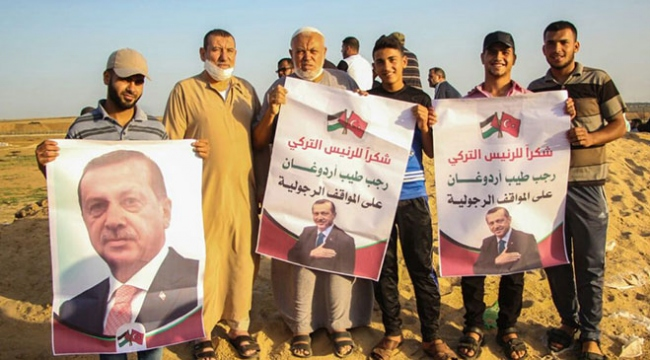 Gazzelilerden Cumhurbaşkanı Erdoğana teşekkür ve sevgi gösterisi