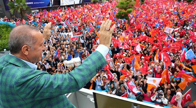 Cumhurbaşkanı Erdoğan seçim öncesi son mitingini yaptı