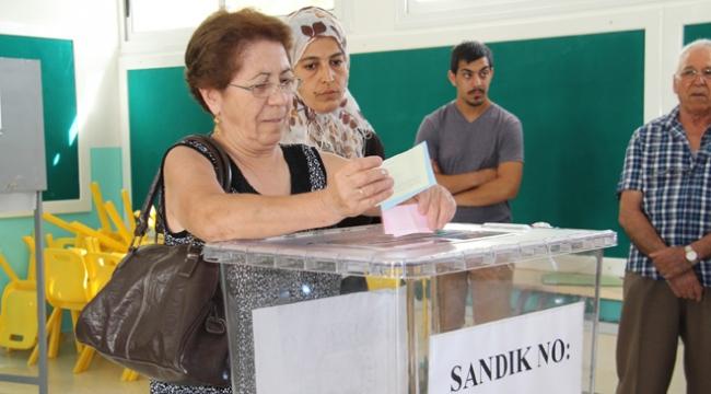 KKTCde halk yerel seçimler için sandık başında
