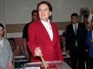 İyi Parti Cumhurbaşkanı Adayı Meral Akşener oyunu İstanbul'da kullandı