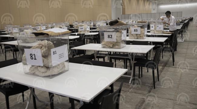 Yurt dışı oylar sayım için hazır