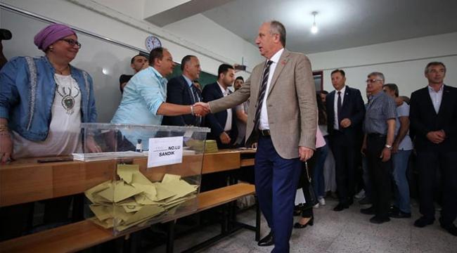 Muharrem İncenin oy kullandığı sandıktan Cumhurbaşkanı Erdoğan çıktı