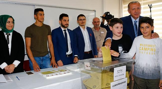 Cumhurbaşkanı Erdoğanın oy kullandığı sandığın sonuçları