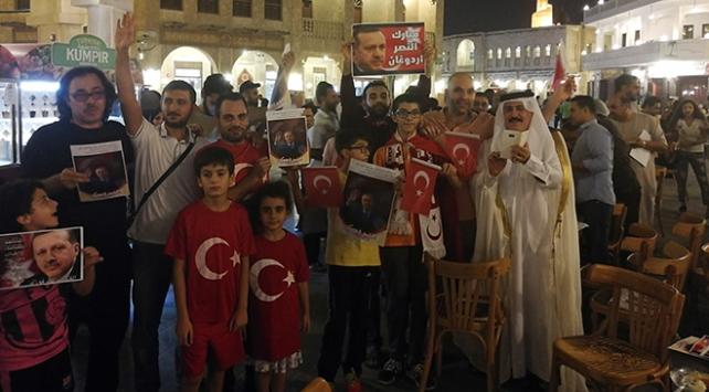 Seçimin ardından Katar'da tatlı kutlama