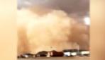 Çinde toz fırtınası duvar oluşturdu