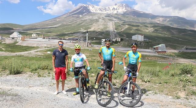 Yabancı bisikletçilerin gözdesi: Erciyes