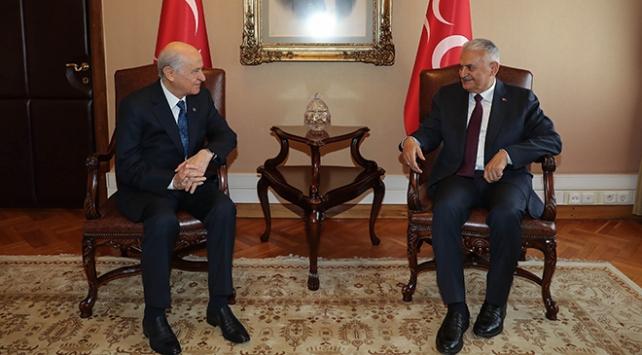 Başbakan Yıldırım, MHP lideri Bahçeli ile görüştü