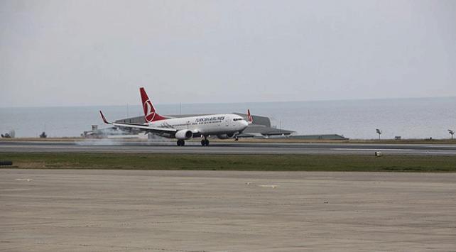 Trabzon Havalimanında yolcu sayısı arttı
