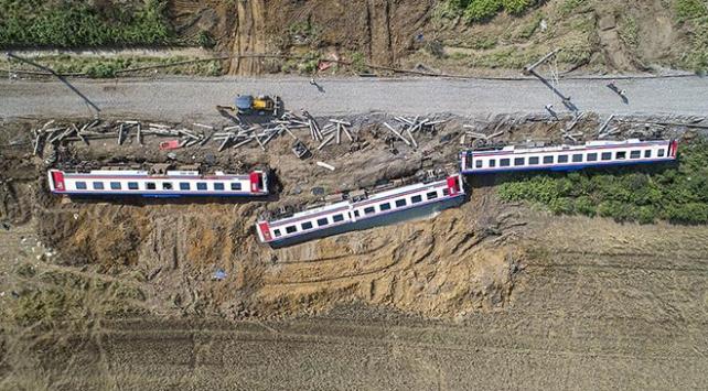Çorluda tren kazasının gerçekleştiği bölgede kapsamlı inceleme yapıldı