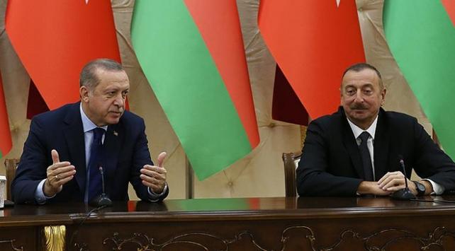 Cumhurbaşkanı Erdoğandan Aliyeve teşekkür