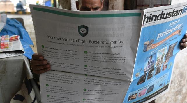 Whatsapp Hindistanda sahte mesajlara gazete ilanlarıyla savaş açtı