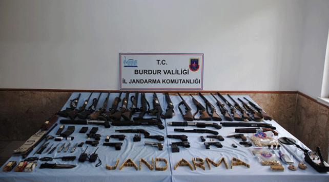 Burdur merkezli silah kaçakçılığı operasyonu