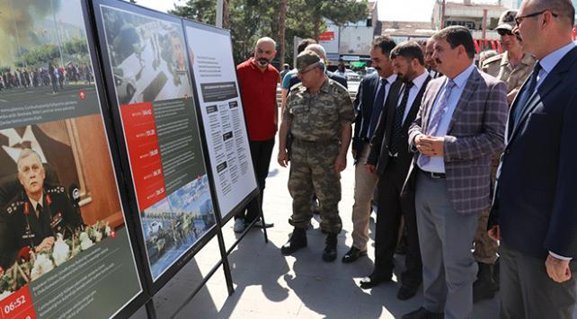 Erzincanda 15 Temmuz sergisi açıldı