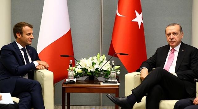 Cumhurbaşkanı Erdoğan Macronla görüştü