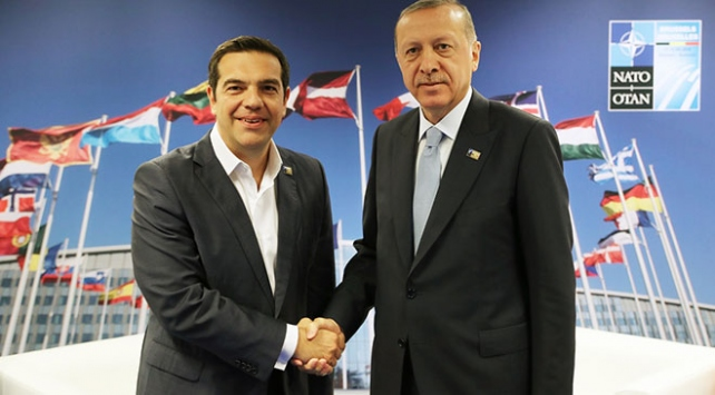 Cumhurbaşkanı Erdoğan Çipras ile görüştü