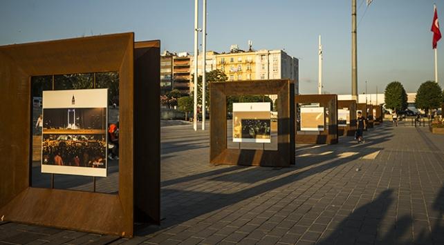 15 Temmuz fotoğraf sergisi Taksim Meydanında açıldı