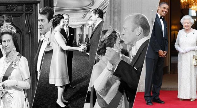 Kraliçe 2. Elizabeth 12 ABD Başkanı gördü, 11iyle tanıştı