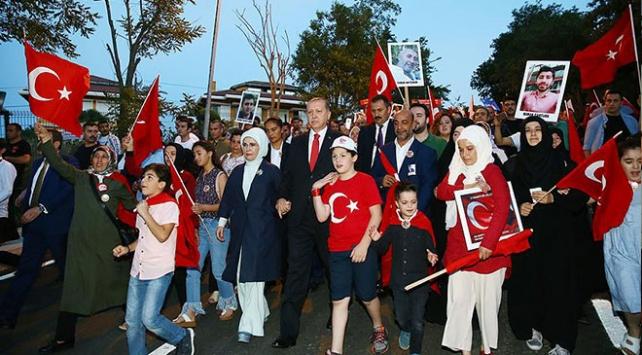 Cumhurbaşkanı Erdoğan 15 Temmuz yürüyüşüne katılacak