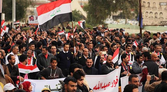 Basradaki gösteriler başkent Bağdata da sıçradı