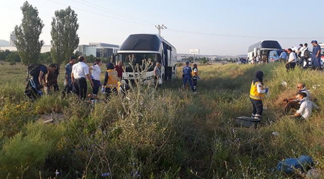 Ankarada otobüs kazası: 15 yaralı