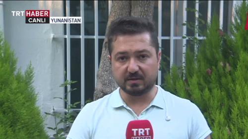 TRT ekibine Yunanistanda keyfi gözaltı