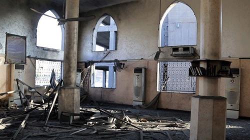 Gazzedeki Şeyh Zayed Camii İsrailin saldırısında hasar gördü