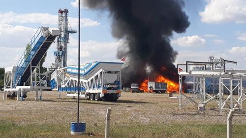 Ankara Gölbaşında fabrikada yangın