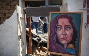 İsrailin hedef aldığı Sanat ve Zanaat Köyünde sergi