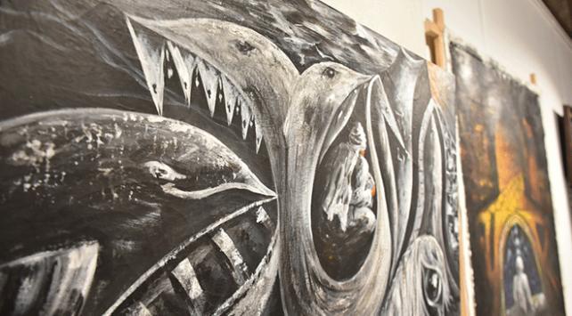 Sanatçı polis 28 sergi açtı