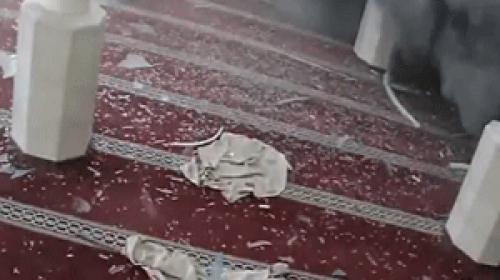İsrail Gazzeye düzenlediği hava saldırısında Şeyh Zayid Camiini hedef aldı