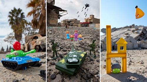 ABDli fotoğrafçı savaşın dehşetini çocukların gözünden gösteriyor