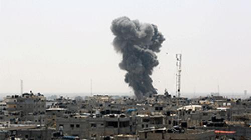 İsrailin Gazze saldırısı çocuklara korku dolu anlar yaşattı